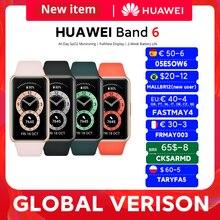 В наличии глобальная версия браслете Huawei Band 6 Smartband крови кислородом 1,47 ''с органическими светодиоидами Heart Rate трекер, мониторинг сна группа 6