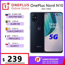 OnePlus Nord N10 5G Глобальная версия 6 ГБ 128 Snapdragon 690 смартфон 6,49 90 Гц FHD + безрамочный экран с Дисплей 64MP Quad камеры Warp заряжайте 30T NFC; code: ZASTOLIE(P22000-1700); ...