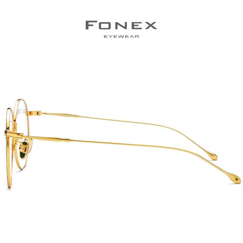 Puro B Marco de gafas de titanio mujeres 2018 ultraligero gafas de prescripción hombres gafas redondas miopía marcos ópticos gafas - 3