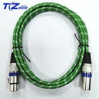 Kabel XLR męski na żeński złącze 3 Pin OFC głośniki Audio drutu mikrofonem dla mikser do mikrofonu wzmacniacze 2m 3m 5m rozszerzenie AUX przewód