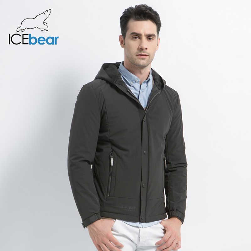 ICEbear 2019 חדש של גברים מזדמן מעיל סתיו איש חם מותג אופנה מעילי כותנה מרופדת מעיל windproof מעיל MWC18216D