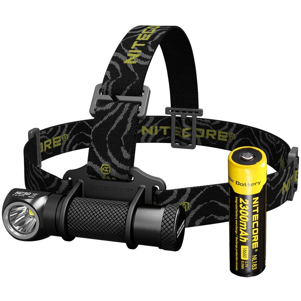 Sale NITECORE HC30 Headlamp CREE XM-L2 U2 1000 Lumens Waterproof Flashlight Torchw With 18650 Rechargeable Battery Free Shipping