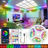 Tira de Luces LED de Color de sueño 5050 WS2811 RGB IC teléfono Aplicación Control Luces 5M 10M 15M diodo lazo cinta Flexible pared dormitorio DC12V