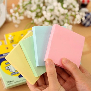 MIRUI creative Pure color Square sticky notes Memo Pad Paper Sticker Notepad Gift Stationery Escolar Papelaria school supplies image