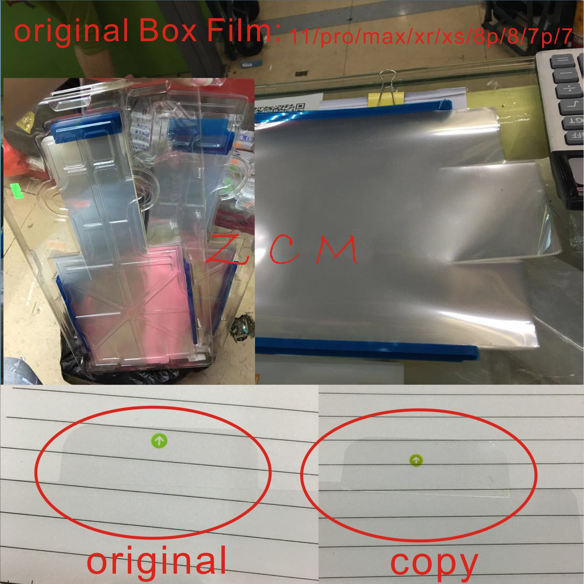 100pcs Original US/UKversion Plastic <font><b>film</b></font> Packing Envelope membrane For <font><b>iphone</b></font> 11pro 8 8Plus <font><b>XS</b></font> MAX package new box with seal image
