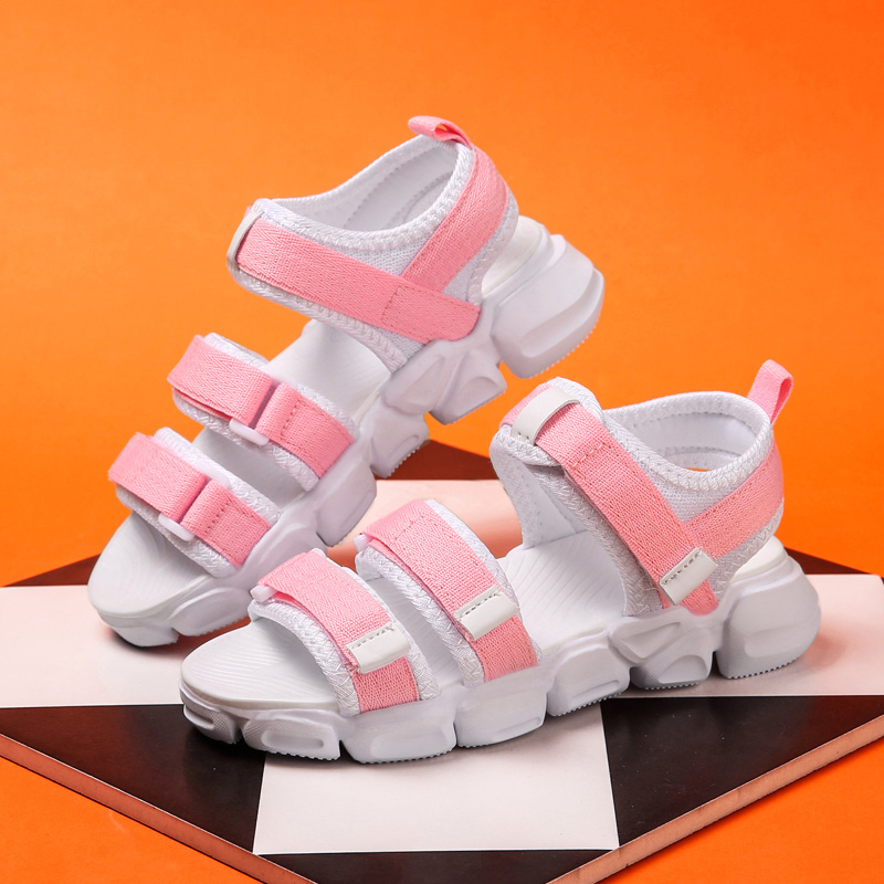 DAYISS Summer Breathable Sandals Girls Boys Toddler Kid Shoe Leather Closed Toe Outdoor Sport Sandal