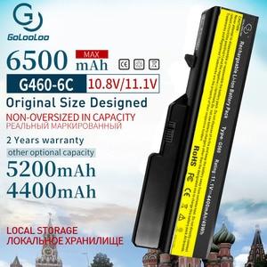 Image 1 - 6500mAh 6 Zellen Neue Laptop Batterie Für Lenovo G460 G560 G465 E47G L09L6Y02 L09S6Y02 L10P6F21 LO9S6Y02 b570e V360A Z370 k47A Z560