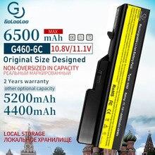 Batería de 6 celdas de 6500mAh para ordenador portátil, para Lenovo G460 G560 G465 E47G L09L6Y02 L09S6Y02 L10P6F21 LO9S6Y02 b570e V360A Z370 K47A Z560