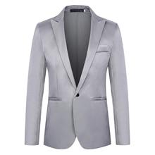 Fashion Brand Blazer British's Style casual Slim Fit suit jacket male B