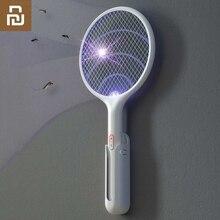 شاومي يوبين جودة الكهربائية البعوض منشة يده LED البعوض القاتل الحشرات يطير الحائط فخ قتل displer
