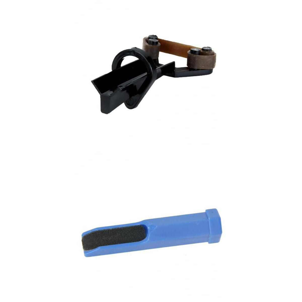 Snooker Cues Leather Tip Double-Side Grinding Tools Repair Rod Leather Clip