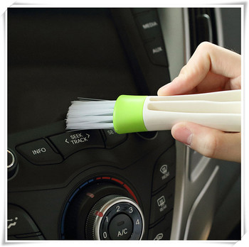 2 In 1 Car Air-Conditioner Outlet Cleaning Tool Multi-purpose for Toyota PRADO COASTER REIZ PRIUS COROLLA highlander image