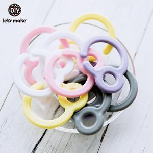 Ring-Links Pacifier-Hook Stroller Let's-Make Plastic Baby Toys Dummy-Clip Nursing-Pendant