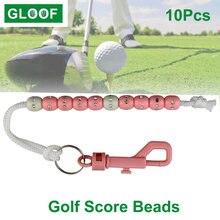 10 шт/лот шарики для гольфа с зажимом Портативный счетчик запоминающий