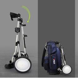 Famouse Brand Foldable Golf Trolley Cart Aluminium Alloy  scorecard Cover Holder Push Pull Golf Cart  3 wheels Golf Cart
