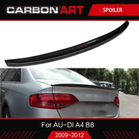 Real Carbon Fiber For Audi A4 B8 B8.5 B9 Spoiler 2009+ Car Rear Wing high quality trunk spoiler 3M tape add on A4 S4 style