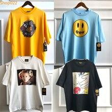 Drew House T Shirt Justin Bieber Same Wear Little Girl Ice Cream Women Face Funny Print T-shirt