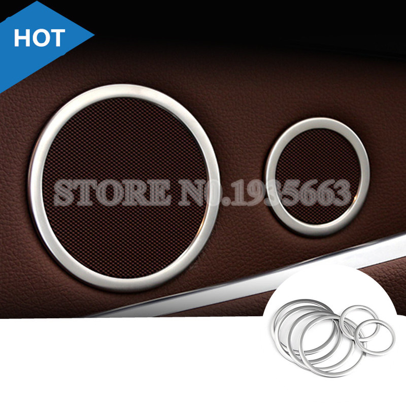 For BMW 5 Series GT F07 Inner Car Door Speaker Frame Cover Trim 2010-2017 6pcs image