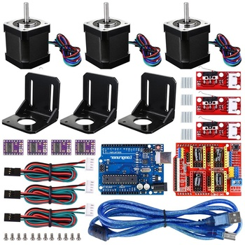 3D Printer CNC Controller Kit with for Arduino IDE GRBL CNC Board RAMPS 1.4 Mechanical Switch Endstop DRV8825 A4988 Stepper Moto
