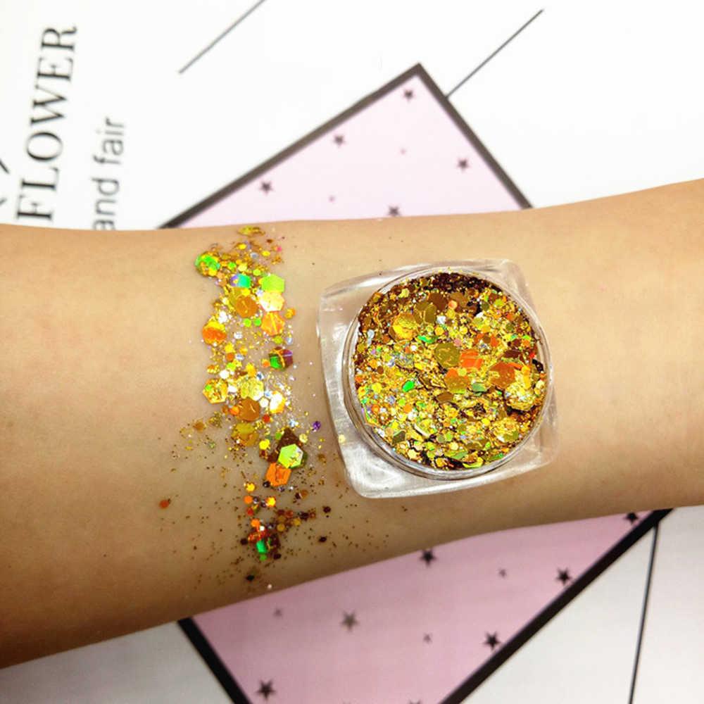 19 Kleur Oogmake-up Pailletten Glitter Oogschaduw Poeder Waterdicht Blijvende Oogschaduw Wit Paars Festival Party Cosmetica TSLM2