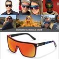 Мужские и женские слитные солнцезащитные очки KDEAM, большие спортивные поляризационные очки для вождения, модные солнцезащитные очки с коро...