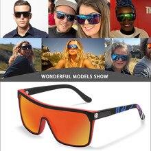 2020 venda quente óculos de sol esportes de grandes dimensões uma peça polarizada condução shades kdeam moda masculina óculos de sol com caixa