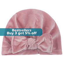 @ Newborn Baby Solid Pleuche Hat Cap Beanie Bow Headband Hair Headwear Accessories Панама Детская Kids Headbands