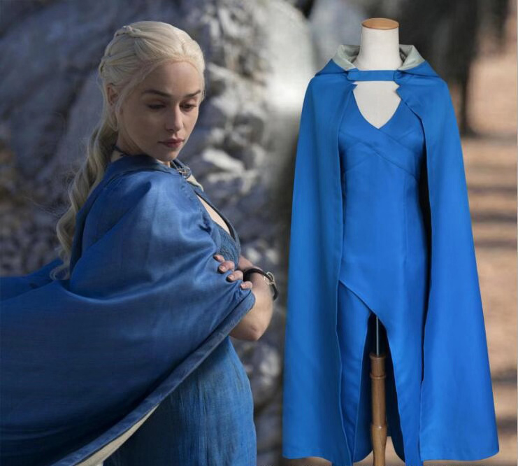 Game Of Thrones Daenerys Targaryen Dany Cosplay Costume Long Dress Stormborn Targaryen The Unburnt Mother Of Dragon Halloween