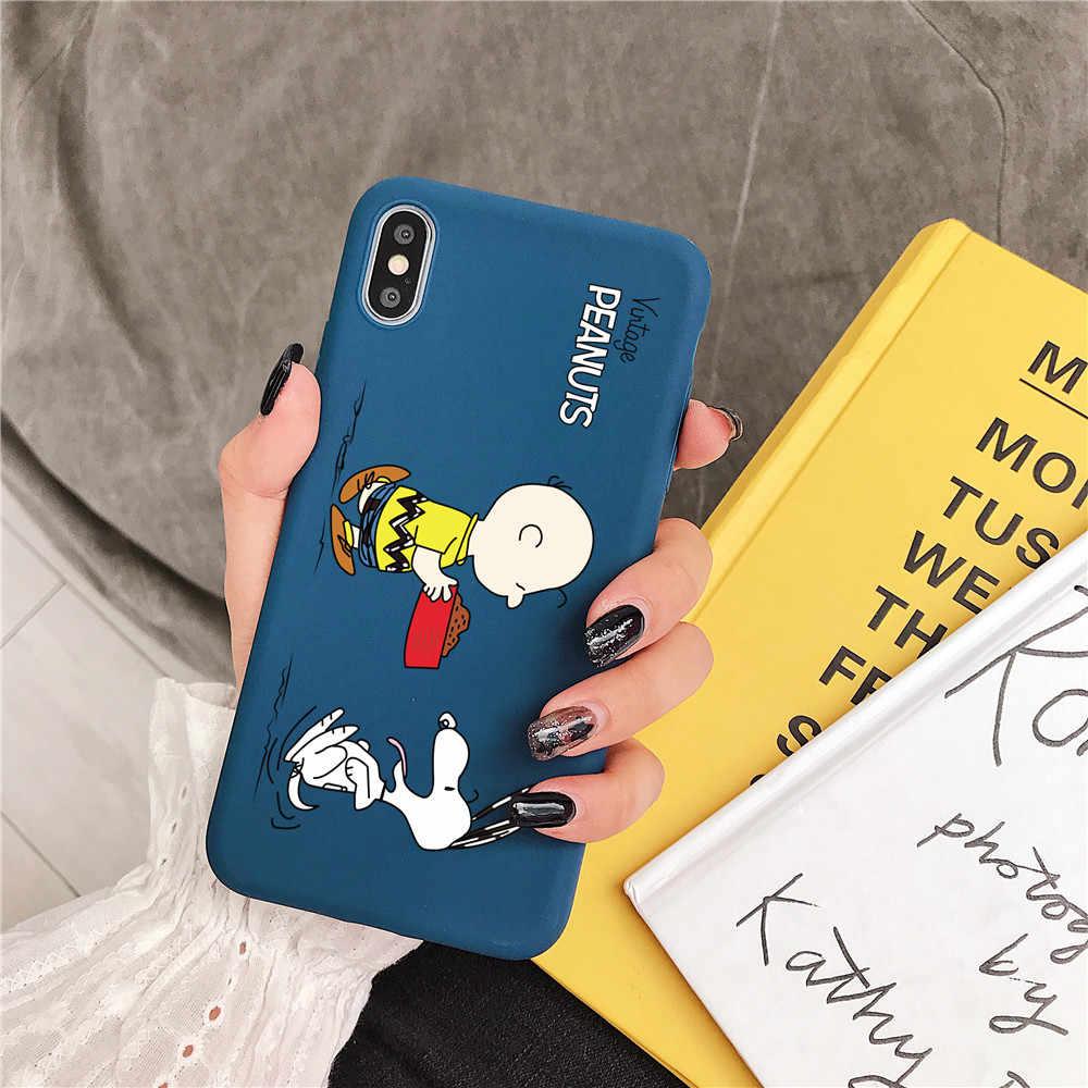 """Đậu Phộng Charlie Brown """"Beagle"""" Hoạt Hình Kẹo TPU Tặng Ốp Lưng Điện Thoại Apple iPhone 7 8 6 6 S 11 Pro X XS Max XR Silicon Mềm Bao"""