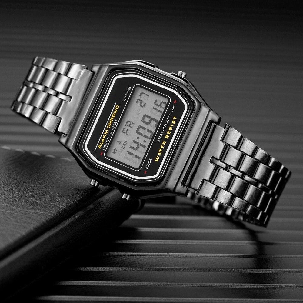 Neue Digitale Uhr Männer Frauen Unisex Luxus Platz Legierung Zifferblatt Elektronische Sport Herren Uhren Für Jungen Uhr Mann Geschenke Montre homme
