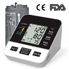 Domowy Monitor ciśnienia krwi automatyczny cyfrowy LCD duży mankiet ciśnienie krwi w ramieniu Monitor ciśnienia krwi s medyczny pulsometr tętna BP tanie tanio dingguagua Chin kontynentalnych