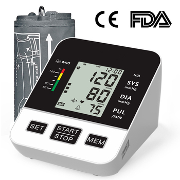 Home Blood Pressure Monitor Automatic Digital LCD Large Cuff Upper Arm Blood Pressure Monitors Medical BP Heart Rate Pulse Meter beurer blood pressure monitor bm 58 medical device upper arm brand new in the original box