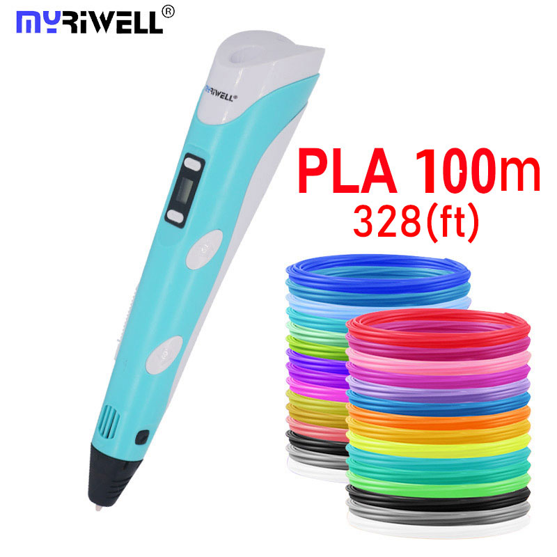 2020 Myriwell 3d pen 3d pensBright color 1 75mm filament3 d pen Finger sleeve 3d printed pen best kid gifts