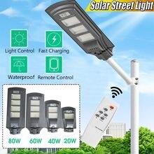 LED Lumière Solaire Capteur DE Mouvement De PIR Jardin Mur Extérieur Solaire Lampadaire Étanche Lampe Intelligente Avec Télécommande