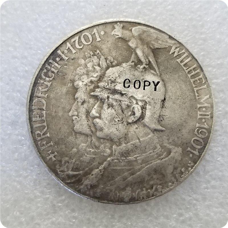 1901 Германия Монета КОПИЯ памятные монеты-копия монет медаль коллекционные монеты