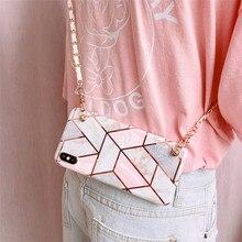marble chain strap tpu case for xiaomi redmi 7 note 7 pro pl