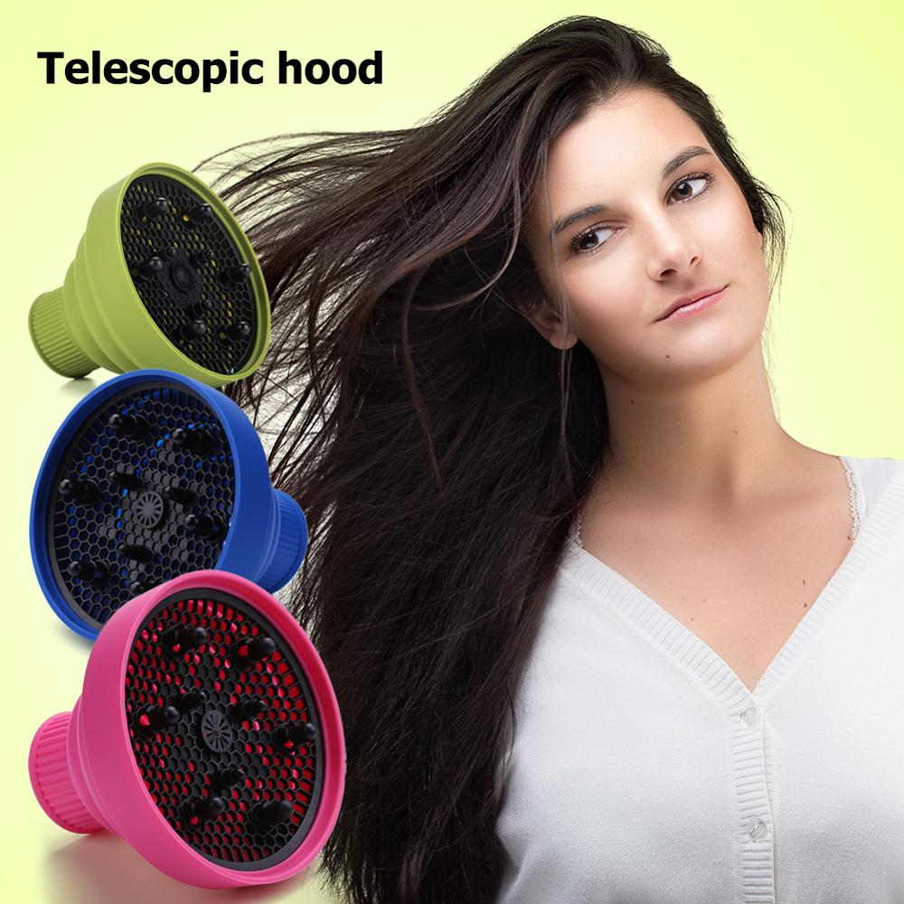 High Temperature Resistant Silica Gel Collapsible Hairdryer Accessories Hairdressing Salon Tools Hairdryer Diffuser Cover