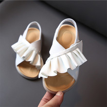 2021 New Summer Children #8217 s Sandals Leather Ruffles Toddler Kids Shoes Cute Baby Shoes Soft Fashion Princess Girls Sandals 21-30 cheap GT-CECD Rubber 13-24m 25-36m 4-6y CN(Origin) Fashion Sandal Quick Dry Breathable Anti-Slippery Soft Leather Flat Heels Hook Loop