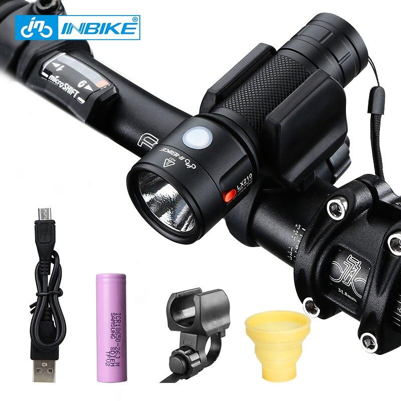 INBIKE vélo lumière vélo lampe de poche LED vélo avant lumière cyclisme 1000 Lumens étanche USB Rechargeable phare vélo lampe