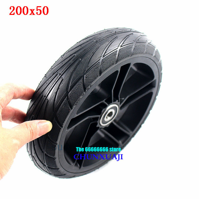 For Xiaomi Ninebot ES1 ES2 ES4 Electric Scooter rear wheel 200x50 Explosion Proof solid tyre 8 inch alloy wheel hub wheel tyre