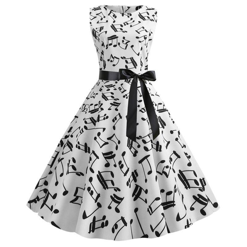 Photo Shoot WOMEN'S Dress Retro Printed Short Sleeve Hepburn Wind Lace-up Dress Skirt