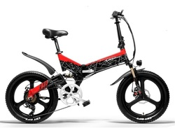 LANKELEISI G650 G650 Electric Bicycle 20 Inch Mountain Bike Folding E-Bike 400W 48V Lithium Battery 7 Speed