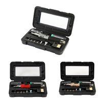 10 In 1 Gas Soldering Iron Case Set Multifunction HS 1115K Butane Lighter Spray Gun Set Welding Equipment X4YE