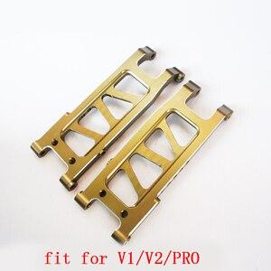 Image 1 - 1 paire CNC avant/arrière bras de Suspension en métal un bras MA351 pour VKAR V1 V2 PRO chevalier blanc RC voiture modèle mise à niveau pièces