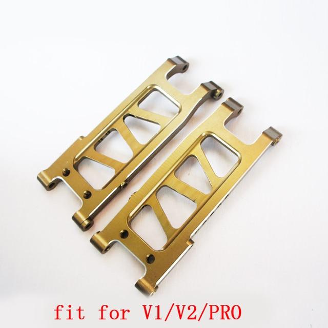 1 paire CNC avant/arrière bras de Suspension en métal un bras MA351 pour VKAR V1 V2 PRO chevalier blanc RC voiture modèle mise à niveau pièces