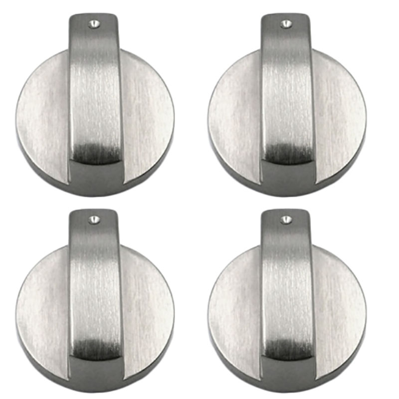 4 шт. универсальные металлические серебристые ручки для плиты, приспособления для плиты, переключатель для духовки, кухонные замки с поверх...