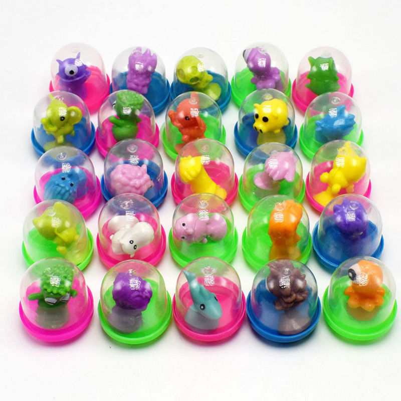 10 Pcs/set Creative Novelty Mini Strange Suckers Animal Surprise Egg Capsule Egg Ball Model Puppets Funny Toy For Kids Gift