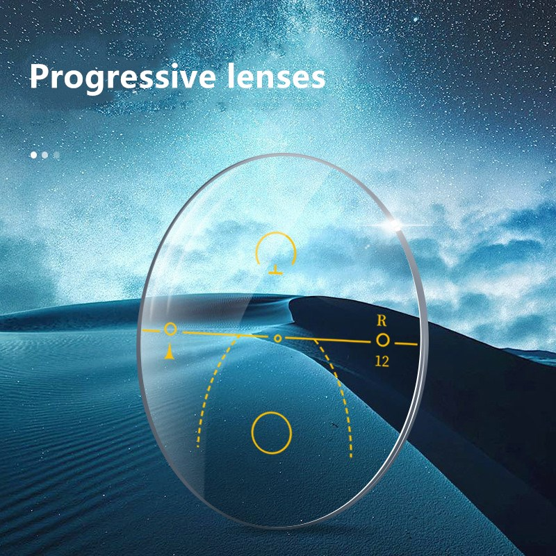1.56 1.61 1.67 1.74 Digital Free-Form Progressive Aspheric Optical Eyeglasses Prescription Lenses