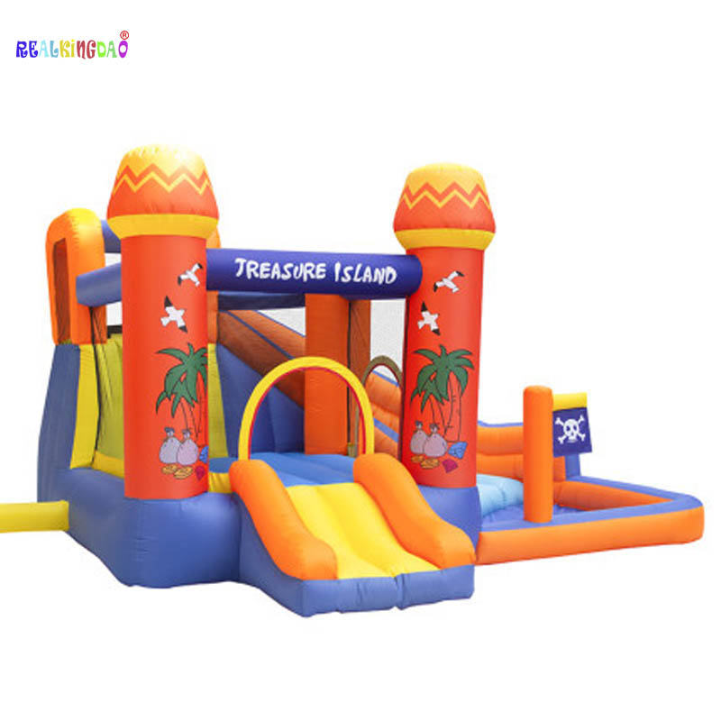 Treasure Islands Children's Inflatable Bouner Castle Trampoline Home Small Inflatable Slide Parent-child Playground Equipment