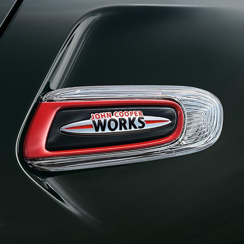 3D Metal John Cooper Works Front Grille Emblem Badge JCW Logo Auto Car Sticker Decal For Mini Cooper R50 R52 R57 R58 R6 F55 F56